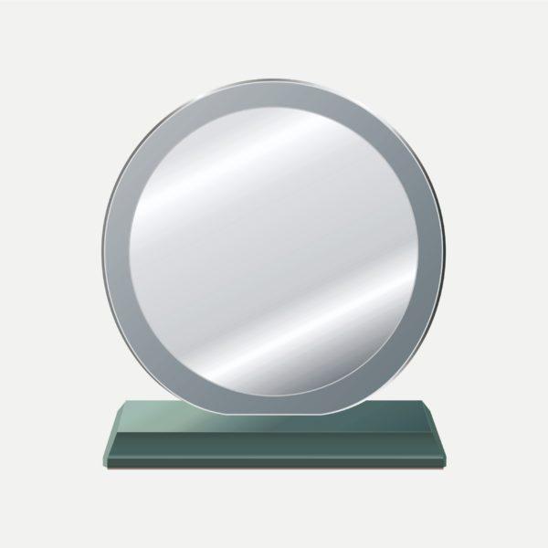 特大圓中圓水晶獎牌