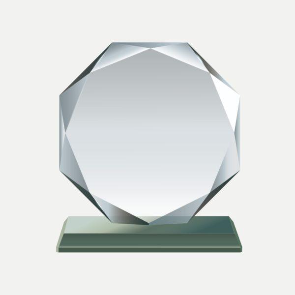 單八角水晶獎牌