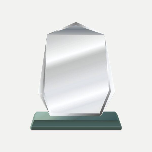 大盾型水晶獎牌