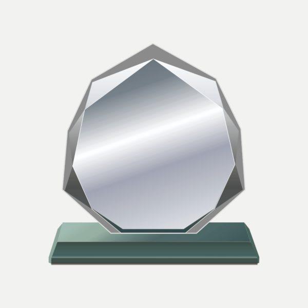 九角水晶獎牌