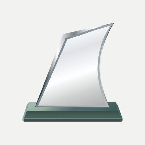 帆船型水晶獎牌