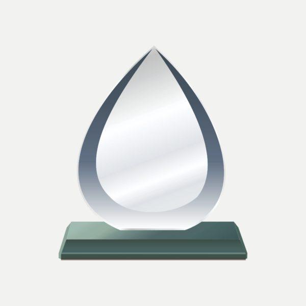 水滴型水晶獎牌