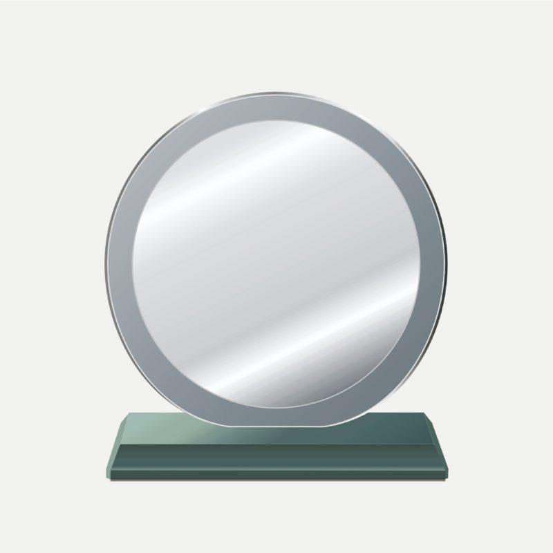 大圓中圓水晶獎牌
