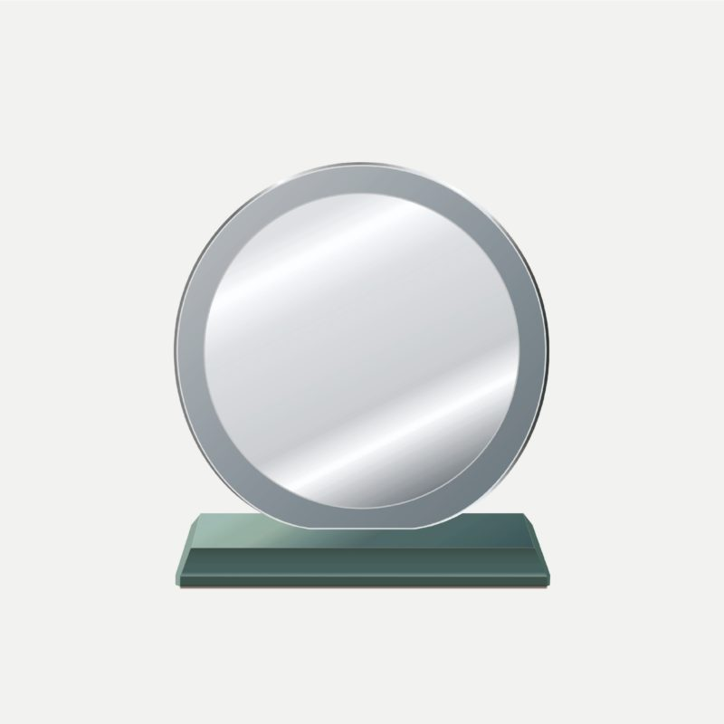 中圓中圓水晶獎牌