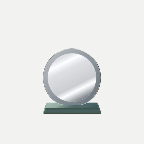 小圓中圓水晶獎牌
